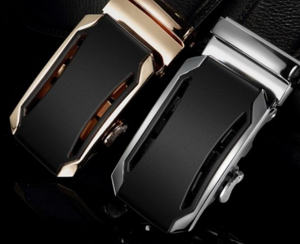Gold and silver belts for men